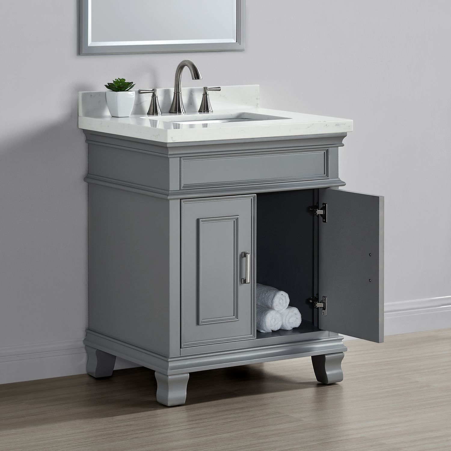 28 bathroom vanity with sink middleton 28 quot single sink vanity gray mission 21789