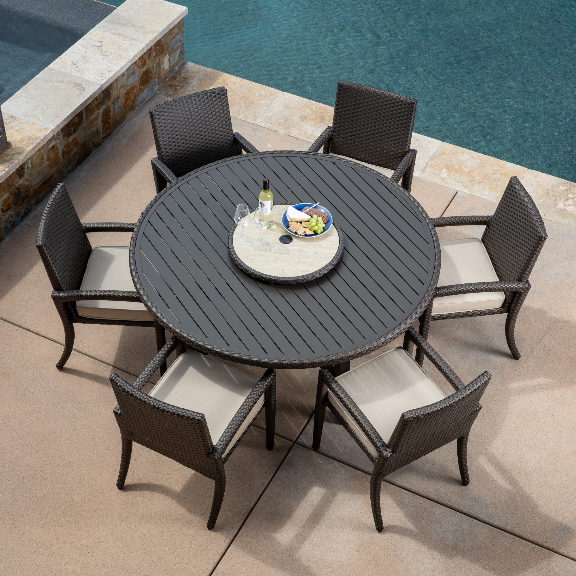 Sidney 7pc Dining Collection   Mission Hills Furniture